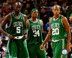 """Garnett, Pierce and Allen the Celtic Big 3"""