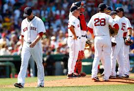 """Boston's Jon Lester leaves the game"""