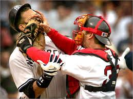 Jason Varitek takes on Alex Rodriguez
