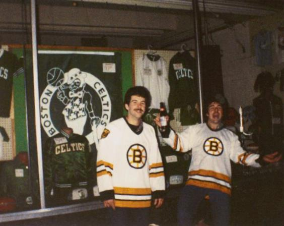 U201cThis Photo Was Shot Outside The Bruins Pro Shop Just Across From The Old  Iron Horse At The Boston Garden On St. Patricku0027s Day, 1983.u201d