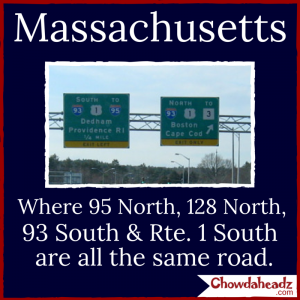 93  South, Rte. 1 South, 95 North and