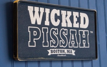 Wicked Pissah Rustic Aged Wooden Sign