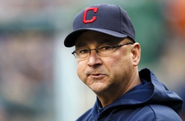 May 11, 2013; Detroit, MI, USA; Cleveland Indians manager Terry Francona (17) in the dugout in the first inning against the Detroit Tigers at Comerica Park. Mandatory Credit: Rick Osentoski-USA TODAY Sports